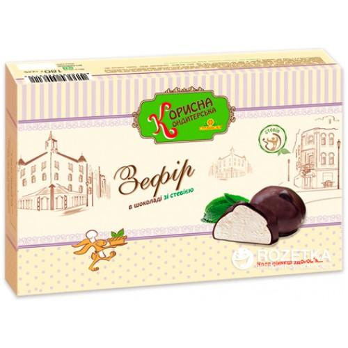 Зефир білий в шоколаді  Корисна Кондитерська 180г