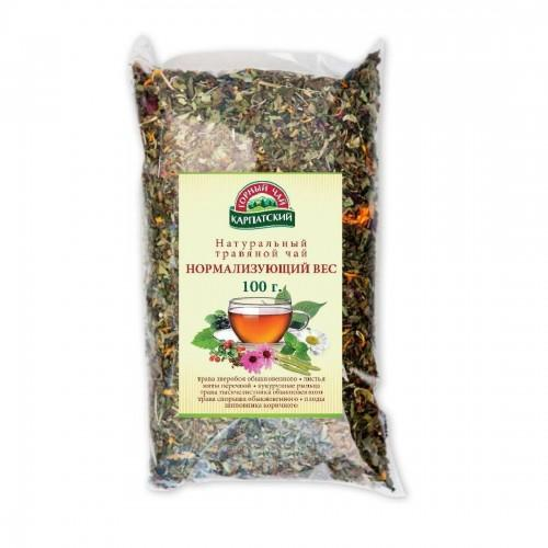 Натуральний трав'яний чай Нормализуючий вагу Гірський чай Карпатський 100г