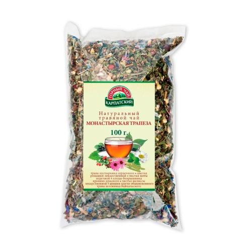 Натуральний трав'яний чай Монастирська трапеза Гірський чай Карпатський 100г