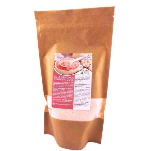 Соль Гималайская розовая средний помол Vegan Prod 500г