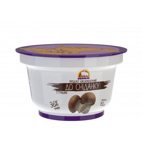 Продукт кисломолочный К завтраку С грибами 36% АМА 150г