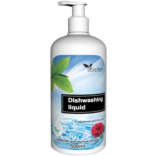 Средство для мытья посуды с эфирным маслом розы DeLaMark 500мл