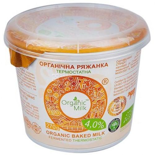 Ряжанка органічна  4% OrganicMilk  270г