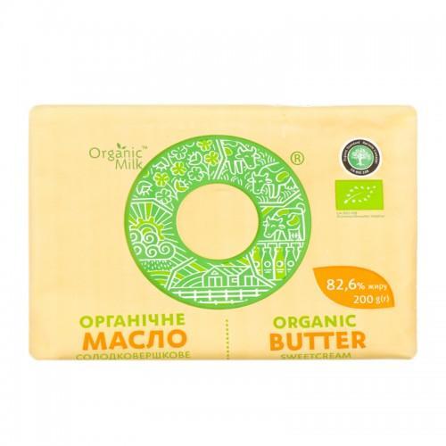 Масло органічне солодковершкове Екстра  82,6%  OrganicMilk 200г