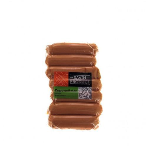 Сосиски Європейські в/г Savin Product