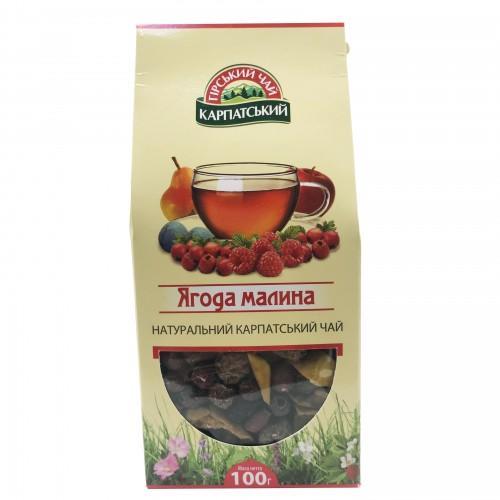 Натуральный карпатский чай Ягода-малина Гірський чай Карпатський 100г