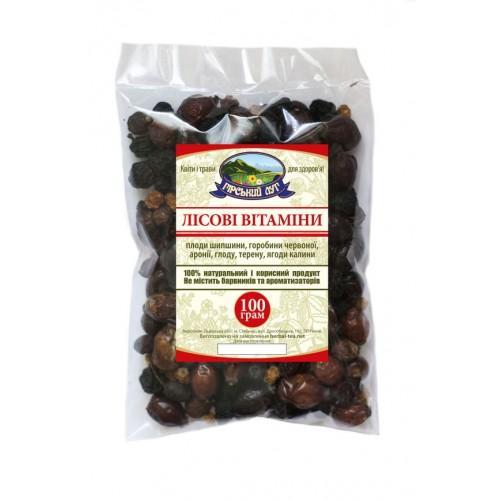 Натуральный травяной чай Лесные витамины Гірський луг 100г