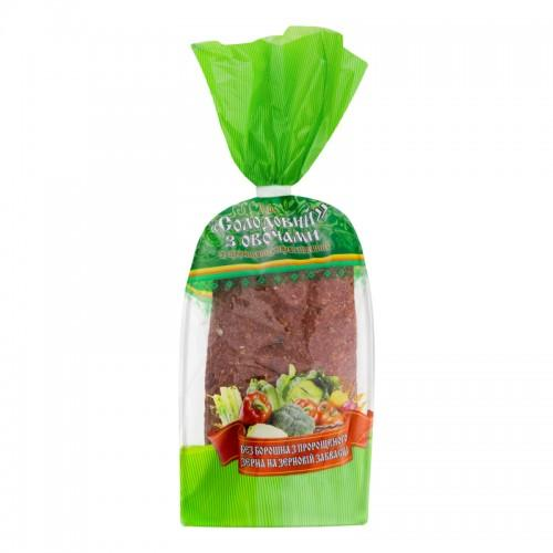 Хлеб Солодовый с овощами УкрЕкоХліб 330г