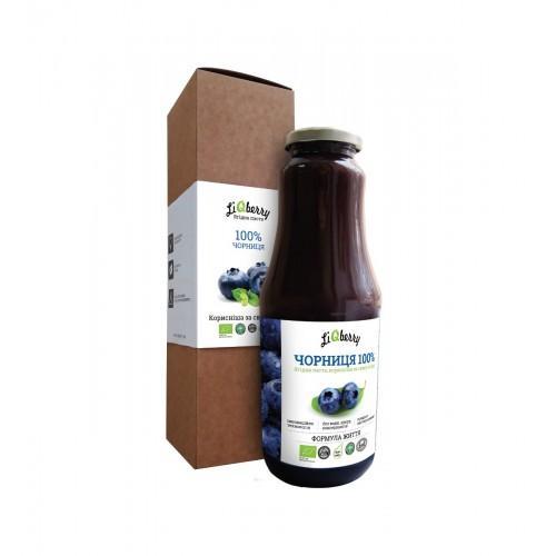 Черника органическая паста LiQberry 1л