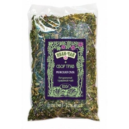 Натуральный травяной чай Иван-чай+левзея Мужская сила 100г