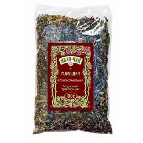 Натуральный травяной чай Иван-чай + Ромашка Противовоспалительный 100г