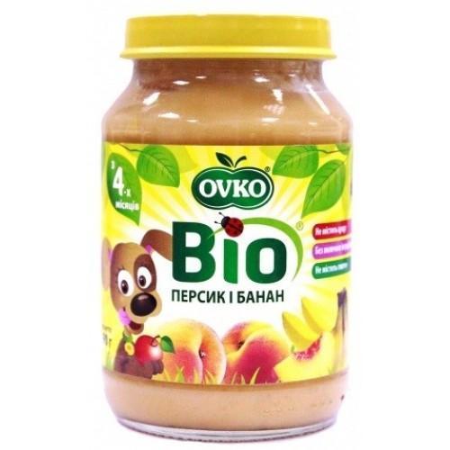 Пюре Персик-банан стерилізоване Biologic190г