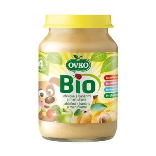Пюре Яблуко-банан-абрикос стерилізоване Biologic 190г