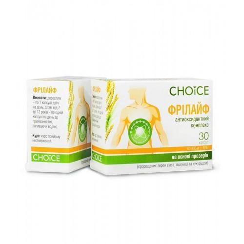 Фитокомплекс Фрилайф антиоксидант Choice 30 кап.