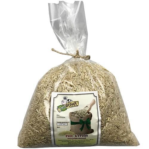Рис бурый нешлифованный Green Ferma 1кг