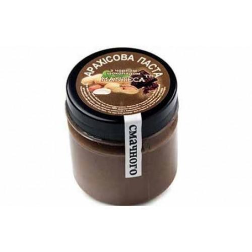 Паста арахисовая с черным шоколадом MANTeca 180г