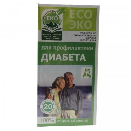Фіточай для профілактики діабету Верховинка 20пак.х1,5г