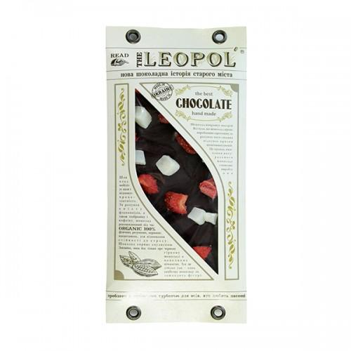 Шоколад черный Кокос-клубника Leopol 95г