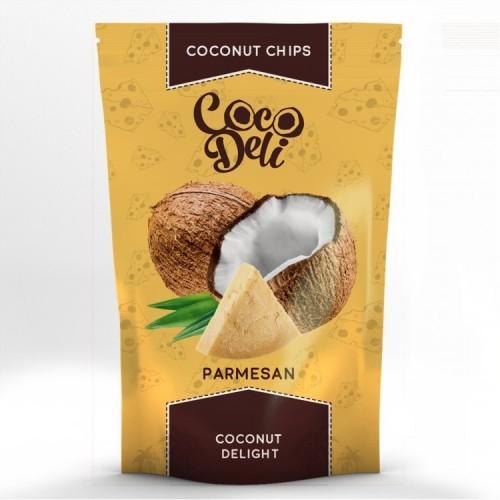Чипсы Кокосовые с сыром Пармезан Coco Deli 30г