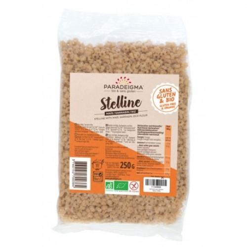 Макарони Stelline (зірочки) із кукурудзяного, рисового, гречаного борошна Paradeigme 250г