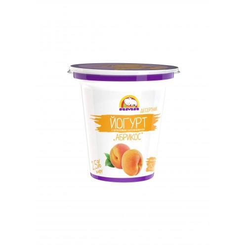 Йогурт десертный с фруктовым наполнителем Абрикос 2,5% АМА  125г
