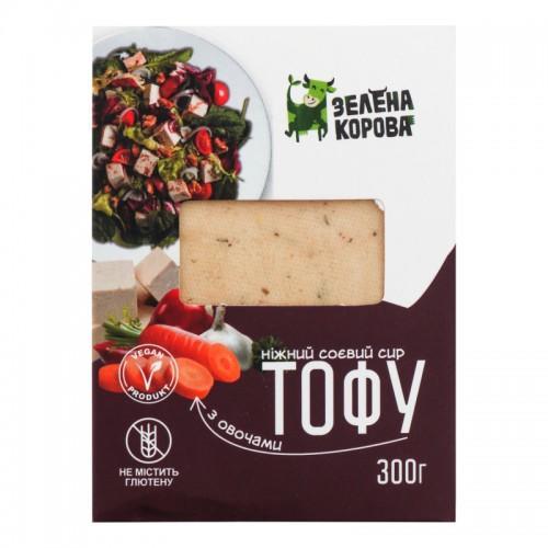 Сыр тофу с овощами и травами Зелена Корова 300г