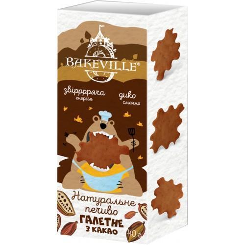 Натуральное галетное печенье с какао Bakeville 40г