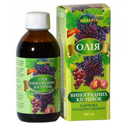 Олія харчова виноградних кісточок Адверсо 200мл