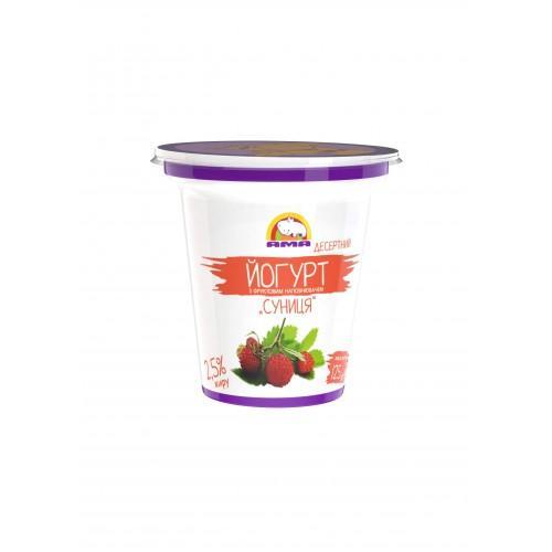 Йогурт десертний з фруктовим наповнювачем Суниця 2,5% АМА 125г