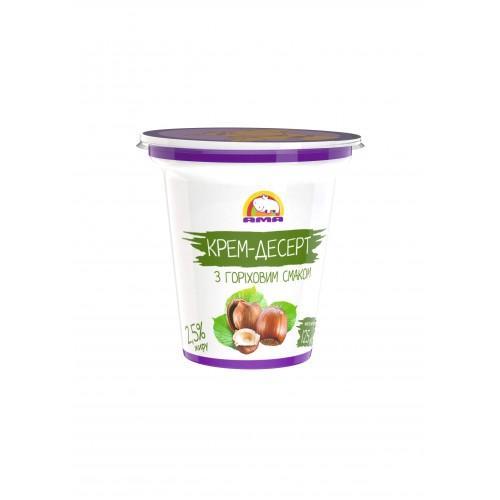 Десерт кисломолочний з горіховим смаком 4% АМА 125г