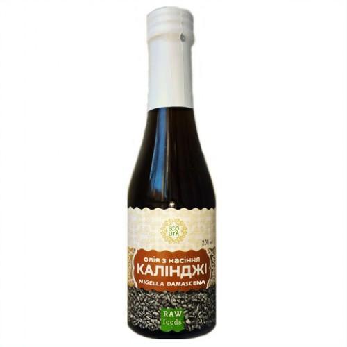 Олія з насіння  чорного кмину (калінджі) Damascena Еколія 200 мл