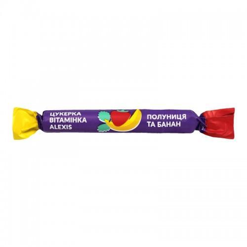 Цукерка-вітамінка Полуниця та банан Alexis