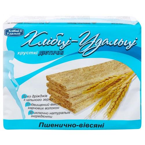 Хлібці-Удальці хрусткі дієтичні Пшенично-вівсяні 100г/36шт.