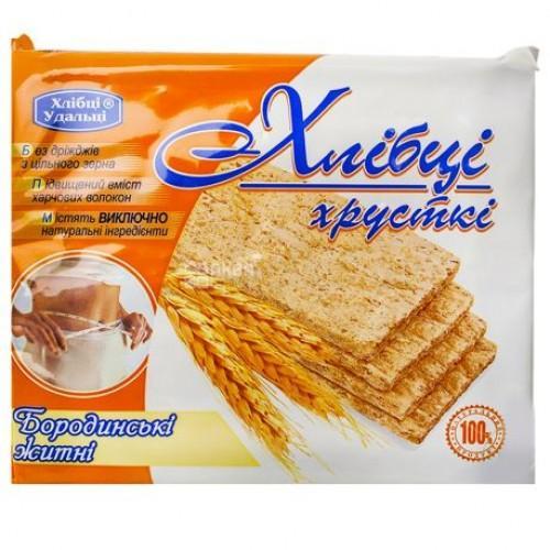 Хлібці-Удальці хрустящие диетические Бородинские ржаные 100г/36шт.
