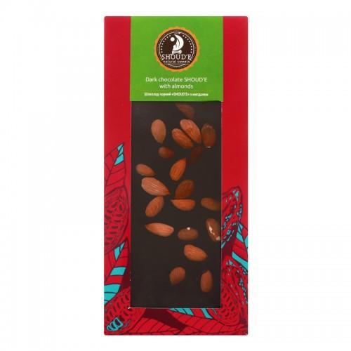 Шоколад черный с миндалем Shoud'e 100г