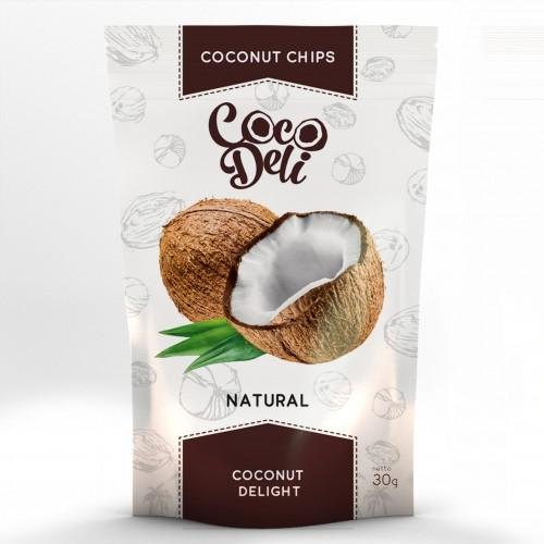 Чіпси Кокосові натуральні без цукру Coco Deli 30г