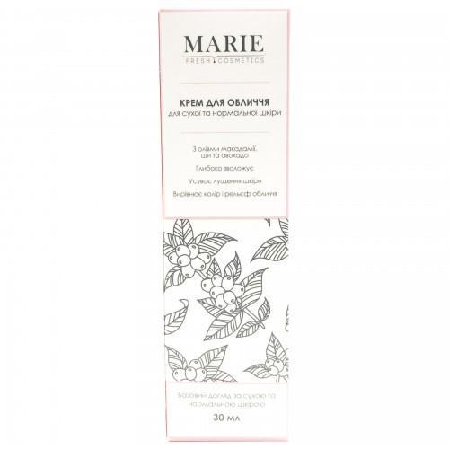 Крем для обличчя для сухої та нормальної шкіри Marie Fresh Cosmetics 30 мл