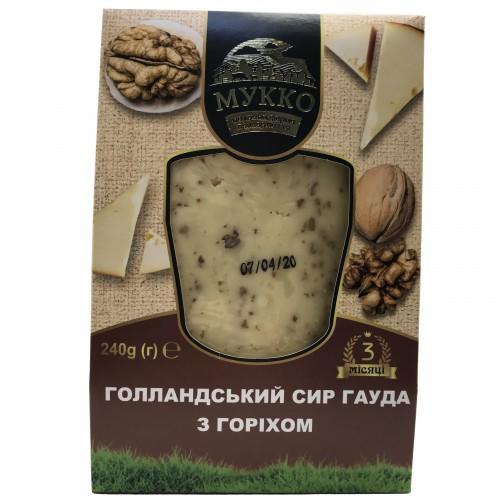 Сыр Голландский Гауда с орехом 40,8% МУККО 240г