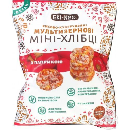 Мини-Хлебцы Мультизерновые с паприкой ЕКІ-НЕКІ 40г