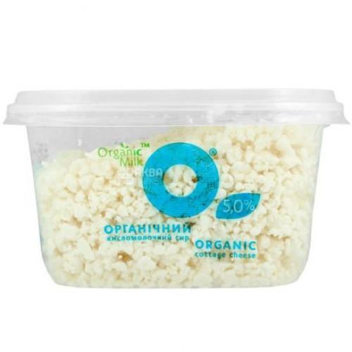 Сир кисломолочний органічний 5% OrganicMilk 300г