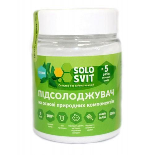 Заменитель сахара В 5 раз слаще сахара Solosvit 200г