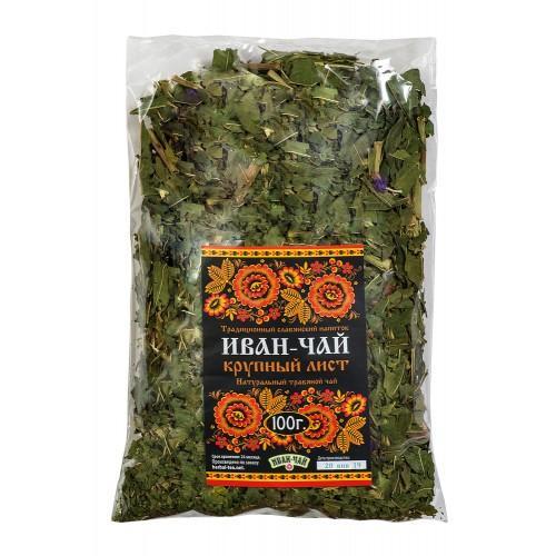 Натуральный травяной чай Иван-чай крупный лист 100г