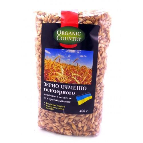 Зерно Ячменю голозерного Organic Country 400г