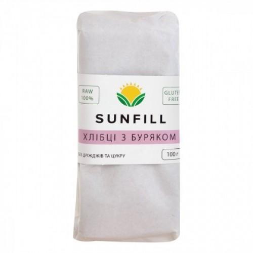 Хлібці з буряком та чорносливом Sunfill 100г