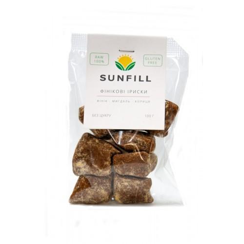 Іриски фінікові Sunfill 100г