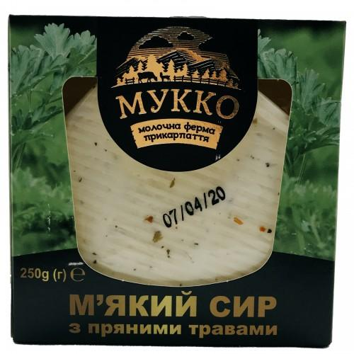Сир М'який з пряними травами 40% МУККО 250г