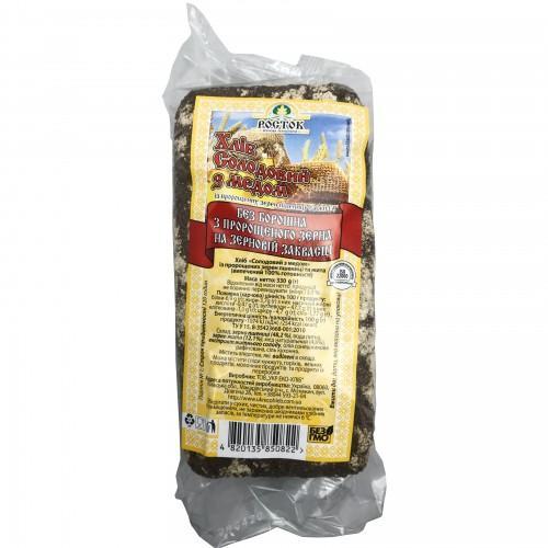 Хліб Солодовий з медом УкрЕкоХліб 330г