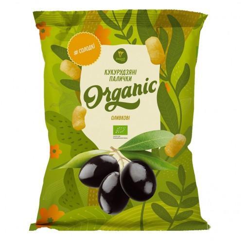 Палочки кукурудзяні солодкі оливкові Екород 50г