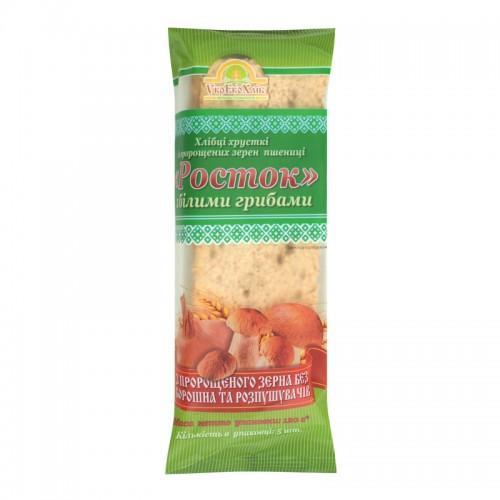 Хлебцы Росток Из пророщенных зерен пшеницы с белыми грибами УкрЕкоХліб 120г