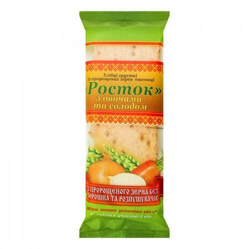 Хлебцы Росток Из пророщенного зерна пшеницы с овощами и солодом УкрЕкоХліб 120г